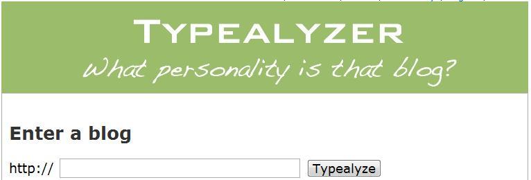 Go to typeanalzer.com